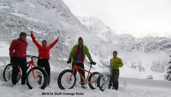 MVSTA staff on fat bikes