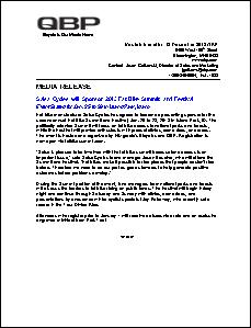 Fat Bike Summit press release 12.17.12 - Salsa Cycles