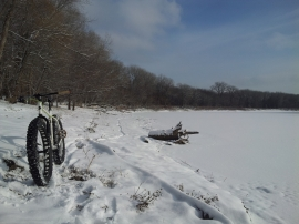 Surly Bikes - fat biking on the MN River Bottoms