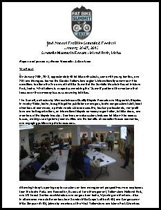 2013 Fat Bike Summit and Festival Final Report